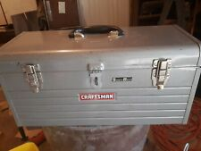 Craftsman  Mechanics Tool Box Silver With Red Tray Insert. 20 x 8 x 9.