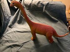 Vintage 1986 Dor Mei Brachiosaurus Toy Dinosaur 10� Tall Red & Yellow