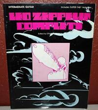 LED ZEPPELIN COMPLETE MUSIC BOOK 248 PGS INTERMEDIATE GUITAR PUBLISH 1990 ~120~