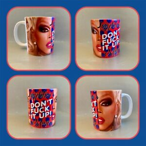 personalised mug rupaul drag race don't f*ck it up quote funny drag queen gay :)