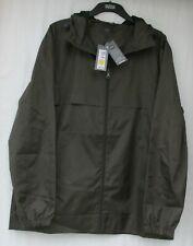 Men's Marks and Spencer Khaki Shower Resistant Hooded Pack-away Mac Size L