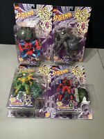 1990S Toy Biz Spiderman Web Trap Monster Sinister Scorpion Rampaging Rhino More