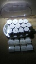"""Hot Rollers Curlers Belson Profiles 1 3/4"""" Jumbo 1 1/2"""" Large HHS-12 + 8 Clips"""