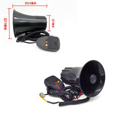 Black 115 DB 3 Sounds Tone Loud Siren Horn Auto Speaker Alarm for Car Van Truck