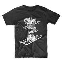 Men's Skiing Shirt - Skeleton Skier Cool Ski T-Shirt
