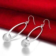 Damen Ohrringe charms Silber überzogen Ohrhänger Ohrstecker Ball rubin Schmuck
