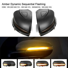 Pair Door Mirror Sequential Dynamic Indicator Light Lamp For VW Golf MK6 09-13