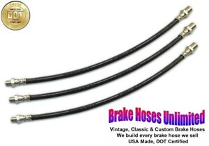 BRAKE HOSE SET Hudson DeLuxe Eight, Series 64, 66, 74, 76, 84 - 1936 1937 1938