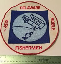 VINTAGE LARGE DELAWARE MOBILE SURF FISHERMEN PATCH 8.5""