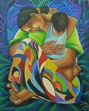 Mother & Child Banzil Art Philippines 30x24 Oil Painting New