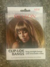 Brand New Revlon Ready To Wear Hair Clip-Lok Bangs Frosted