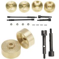 Wheel Hub Brass Counterweight Wheel Axle Drive Shaft for 1/24 Axial SCX24 90081