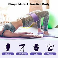 Resistance Bands PURPLE Fabric 3 Levels Workout Exercise Rehab for Hips Glutes