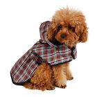 Pet Dog Rain Coat Jacket Puppy Waterproof Coat Dog Plaid Raincoat Cloth Apparel