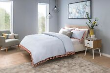 Tassel Quilt Duvet Cover Bedding Set Bed Linen Single Double Super King All Size