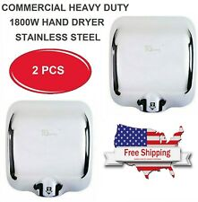 2 Pack High Speed Commercial Heavy Duty Stainless Steel Automatic Hand Dryer