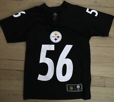 New Nfl Team Apparel Pittsburgh Steelers Short Sleeve Black Jersey Boys Size 6-7 Fan Apparel & Souvenirs