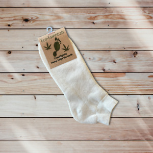 Men's Hemp and Organic Cotton Ankle Sports Socks, Hemp Athletic Socks