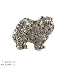 Chow Chow, silver covered pin, high quality Art Dog Usa