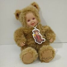 Anne Geddes Teddy Bear Baby Doll Pink Eyes 2002 With Tags Rare Collectable