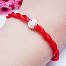 2X Bracelet Fil Chinois Rouge Cordon Réglable Porte Bonheur Corde Judaïca Bijoux