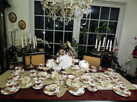 edles Kaffeeservice Royal Albert Old Country Roses mit Etagere 12 Personen