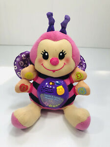 VTech Touch and Learn Musical Bee Plush Toy Pink Works
