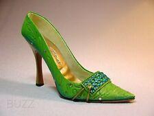 Spearmint Pump Green Swirling Print & Cool Blue Rhinestones Just The Right Shoe