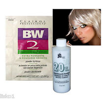 Clairol BW2 BLEACH POWDER HAIR LIGHTENER  w/ 4oz. 20 VOL PEROXIDE DEVELOPER