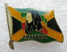 Pin's Drapeau Jamaique Freedom avec Bob Marley #336
