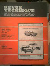 TOYOTA Celica Carina OPEL Kadett SIMCA 1000 Rallye - Revue Technique Automobile