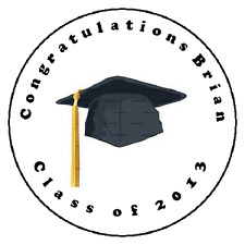 "24 Graduation 2016 Favor Label Stickers Personalized for YOU 1.67"" sucker labels"