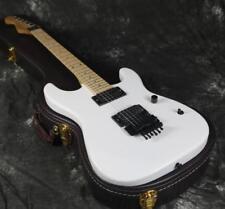 Reverse Headstock Electric Guitar White Color Floyd Rose Bridge Black Hardware