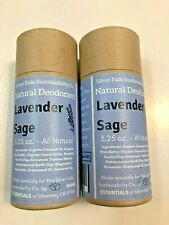 2 X Silver Falls Sustainability Co Natural Deodorant Lavender Sage 90g