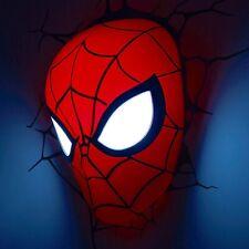 MARVEL Spiderman MASK Night Light 3D FX Light Wall Deco + Sticker Child Gift