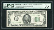FR. 2155-D 1934-C $100 FRN FEDERAL RESERVE NOTE CLEVELAND, OH PMG VERY FINE-35