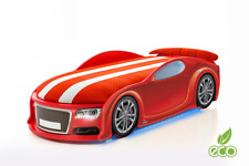 Children's Car Bed UNO Аudi S6 192x80 cm Mebelev 3 colors LED lighting Mattress
