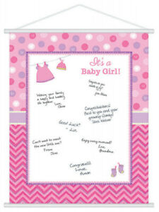 Baby Shower Guest Book Wishes Its A Girl Memory Keepsake Party Games