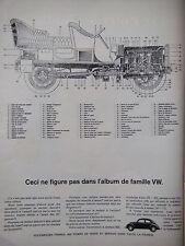 PUBLICITÉ 1964 VOLKSWAGEN NE FIGURE PAS DANS L'ALBUM DE FAMILLE - ADVERTISING