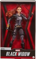"""Barbie Signature Marvel Studios Black Widow Doll 11.5"""" Poseable with Red Hair"""