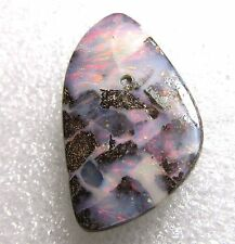 boulder opal, smoldering red fire, 26.2 carats, 20 x 20 x 5 mm undrilled