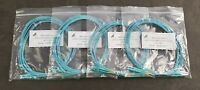 Lot of 4 CAB-LCLC-MMOM3-12FT 50/125 10G Multimode OM3 Aqua Fiber Patch Cables