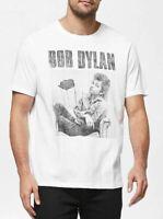 BOB DYLAN Plus Size M L XL 2XL 3XL White Men T Shirt Distressed Top Licensed