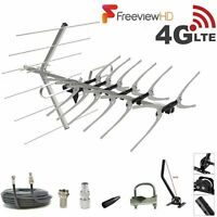 Freeview TV Aerial Full 36 Install Kit 4 Outdoor & Indoor Digital HD 4k Signals