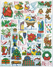 Cross Stitch Kit ~ Design Works Christmas Holiday Alphabet ABC Sampler #DW5458