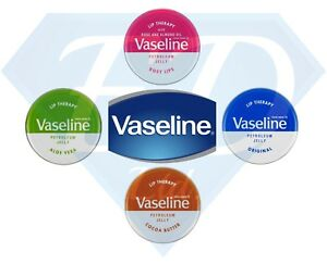 3 x Vaseline Lip Balm Therapy Petroleum Jelly Pocket Size Mini Size 20g Pots