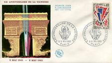 FRANCE FDC - 538A 1450 2 ANNIVERSAIRE DE LA VICTOIRE - PARIS 8 Mai 1965 - LUXE