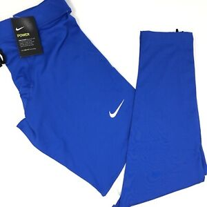 Nike Power Stock Race Day Tight Men's Large Blue Legging Running 835955 NWT