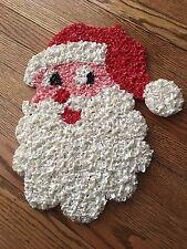 Vintage CHRISTMAS SANTA Head Melted Plastic Popcorn Decoration