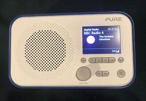 Pure Elan E3 Digital Radio. DAB, DAB+, FM. With Alarm. Blue.